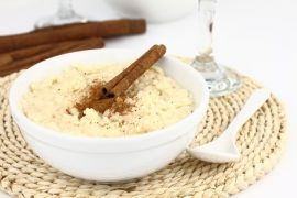 rice pudding, manuka honey